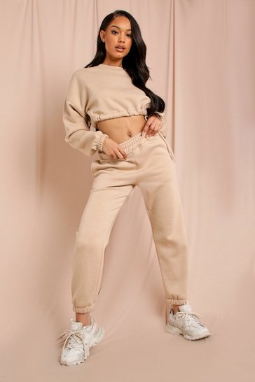 Sand Oversized Fleece Jogger
