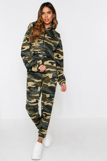 Womens Camo Print Sweat Joggers