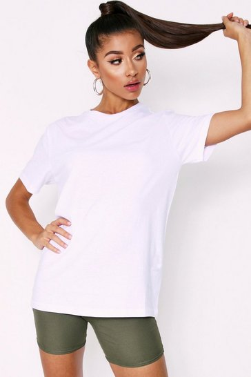 Womens White Oversized Casual T-Shirt