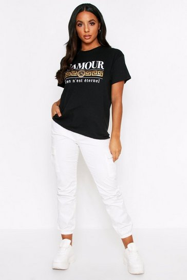 Black L'Amour Foil T-Shirt
