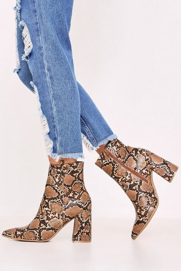 Womens Tan Cowboy Ankle Boots