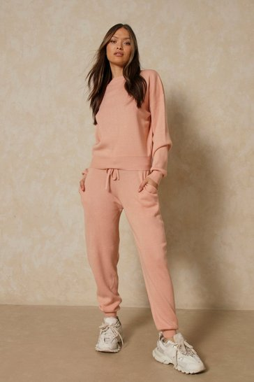 Blush Knitted Sweater & Jogger Two-Piece