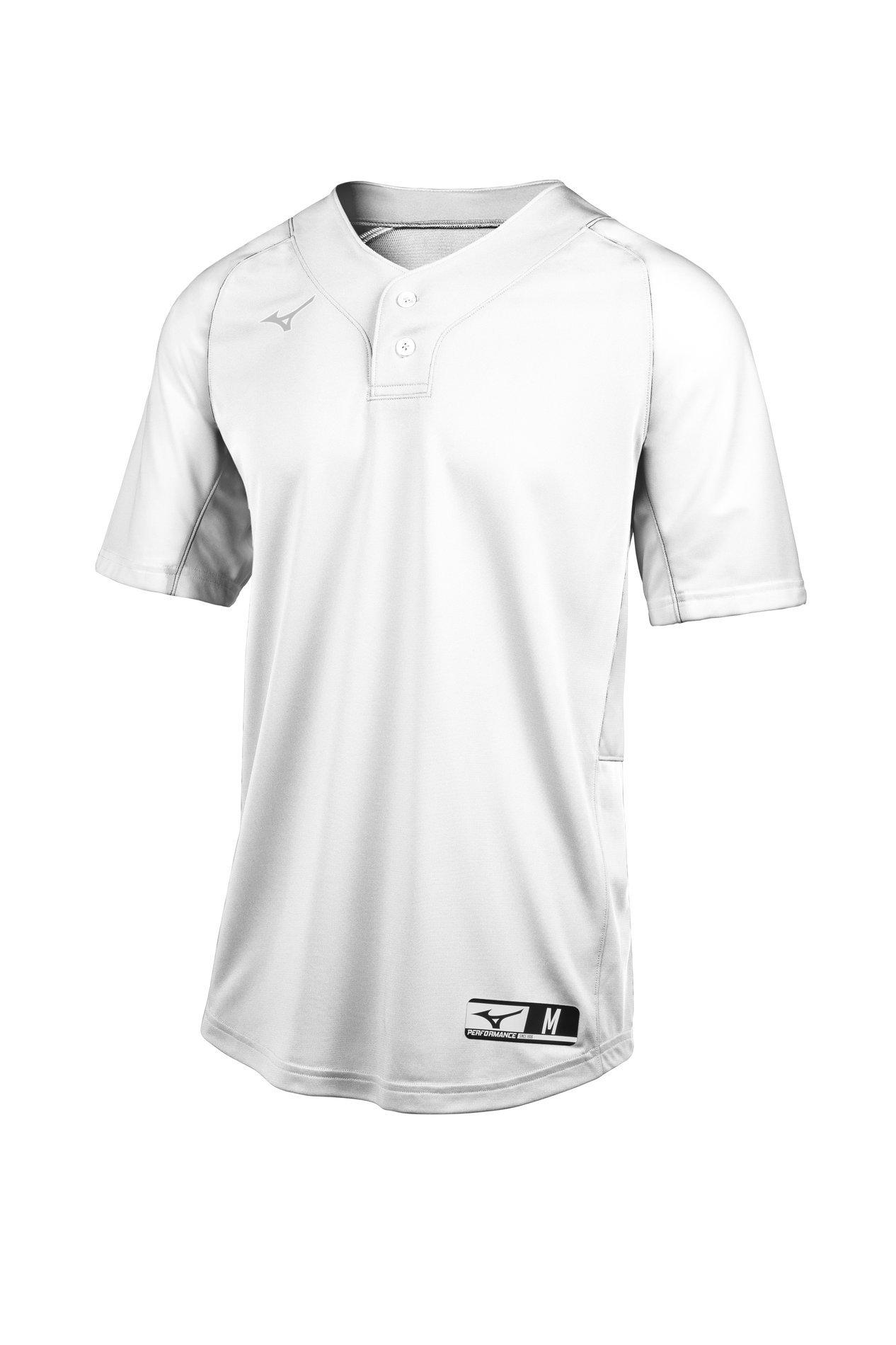 Large Navy-Grey Mizuno Aerolite 2-Button Fastpitch Softball Jersey