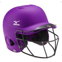 MVP Solid S/M Batting Helmet with Fastpitch Softball Wire Mask
