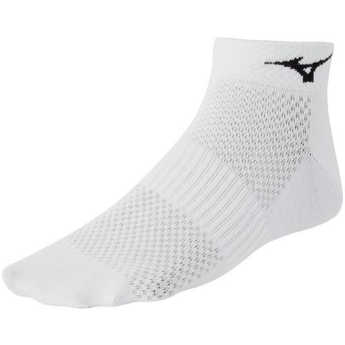 Small Mizuno Running Training Mid Socks White//Black 3-Pack