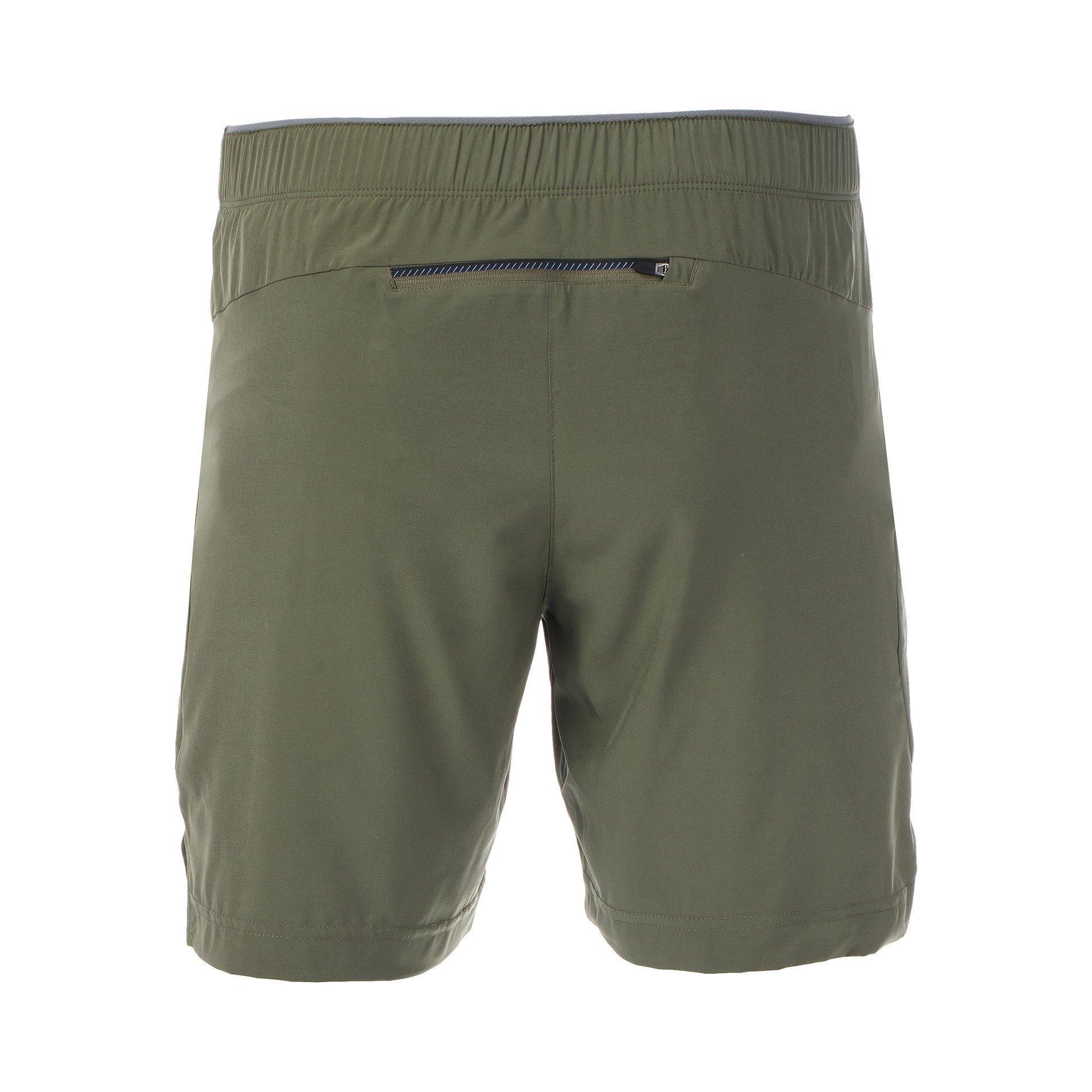Black Mizuno Printed 7.5 Inch 2 In 1 Mens Running Shorts