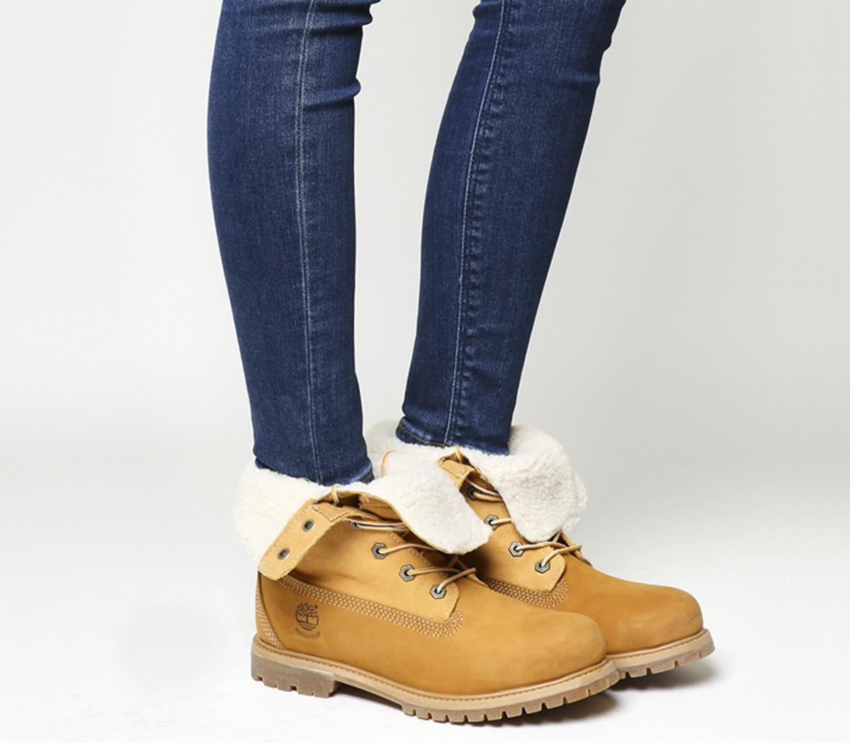 Timberland Teddy Fleece Boots Wheat Ankle Boots