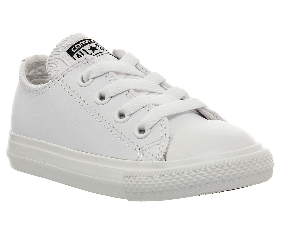 9de6d6f440fbc1 Converse All Star Ox Leather Infant White Mono - Unisex