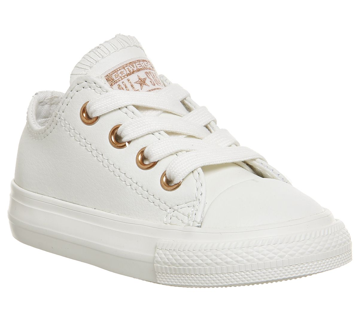 85526df3f1a7 Converse All Star Ox Leather Infant Egret Rose Gold Exclusive - Unisex