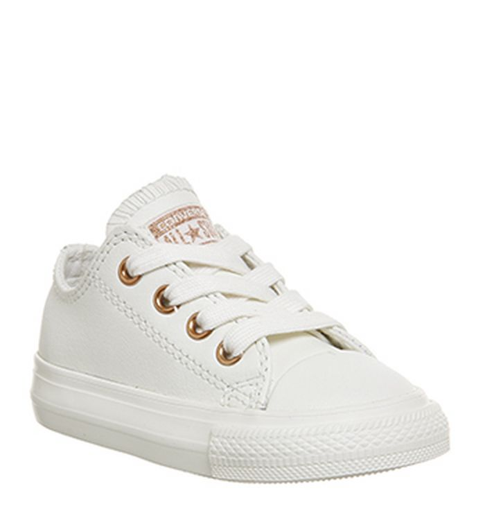 cda85c4a1d08 Converse All Star Ox Leather Infant Egret Rose Gold Exclusive - Unisex