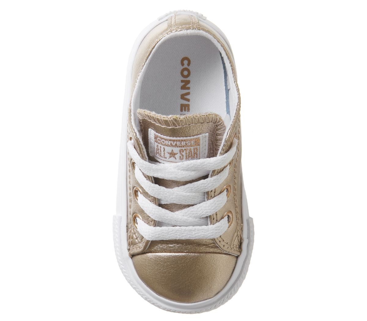 be8ebdfa0dab15 Converse All Star Ox Leather Infant Rose Gold Metallic Exclusive ...