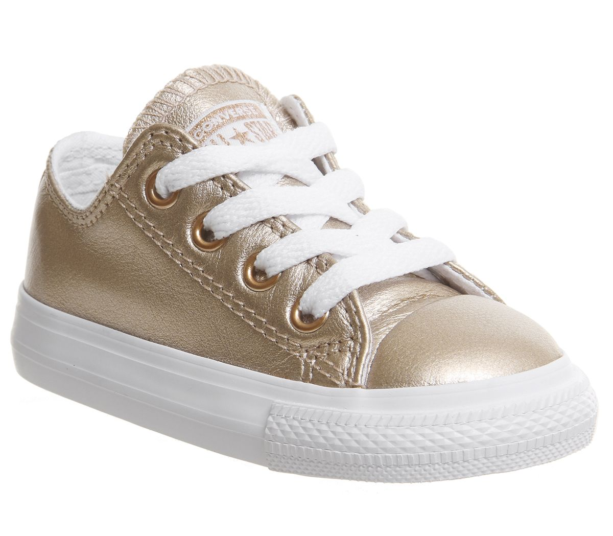 90d1e91d8 Converse All Star Ox Leather Infant Rose Gold Metallic Exclusive ...