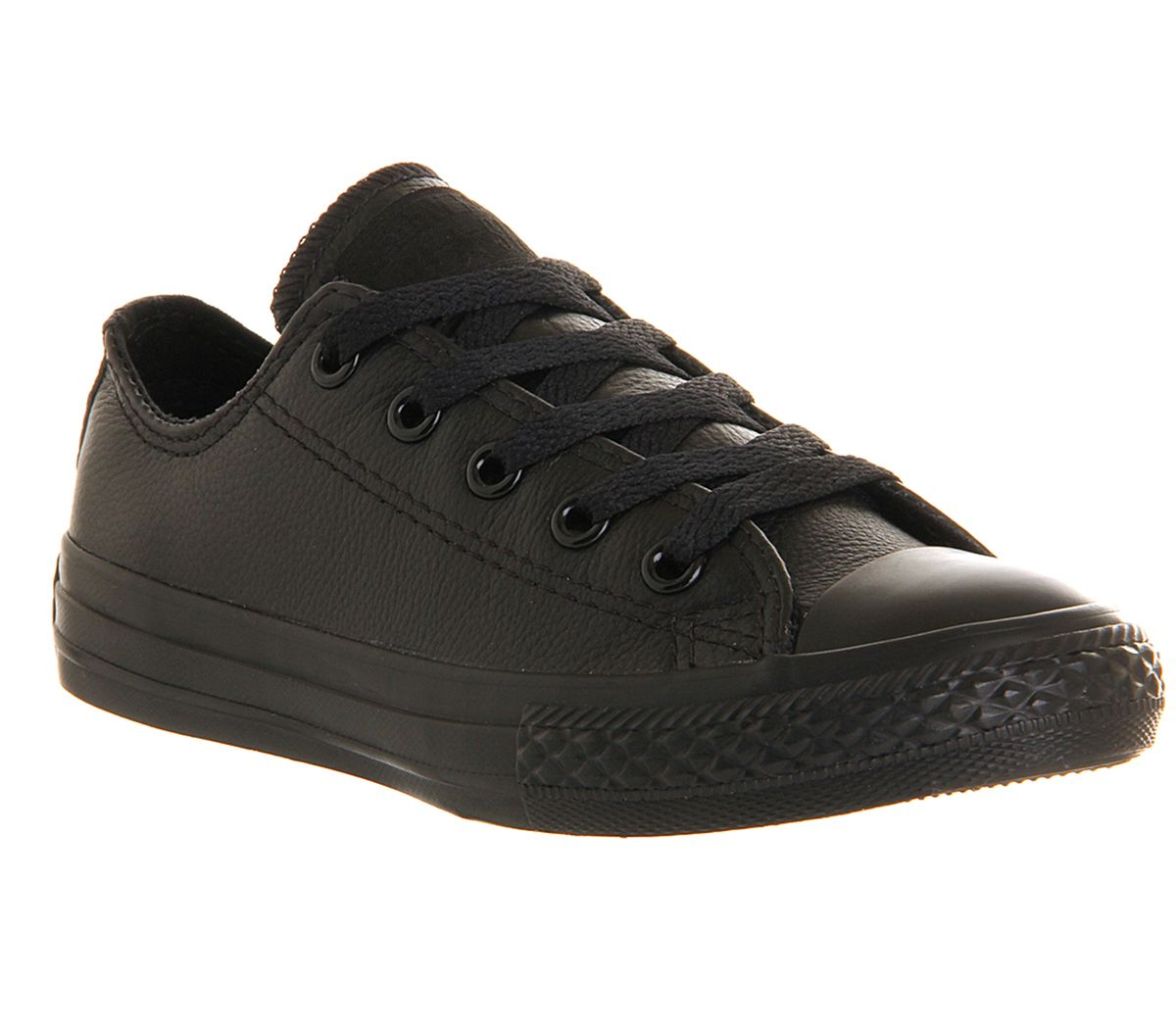 1d70ab94a65492 Converse All Star Ox Leather Kids Black Mono - Unisex