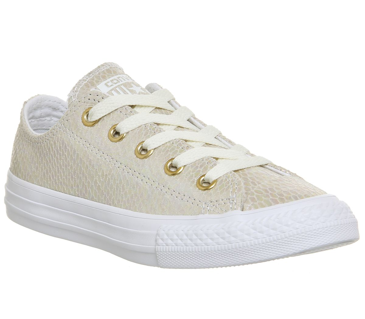 405ac6593c5157 Converse All Star Ox Leather Kids White Snake Iridescent Exclusive ...