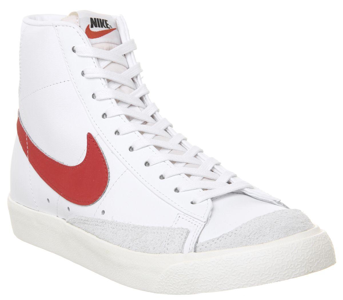 save off c4e4e 5e037 Nike, Blazer Mid  77 Trainers, Habenero Red Sail White