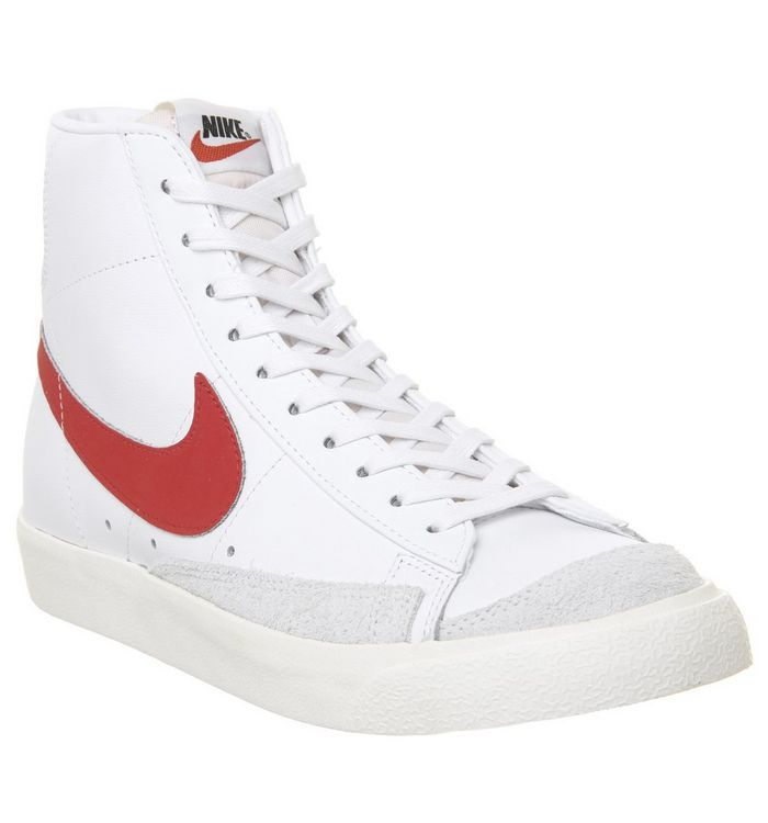 e3fc84a5ded6f Nike Blazer Mid '77 Trainers Habenero Red Sail White - Unisex Sports