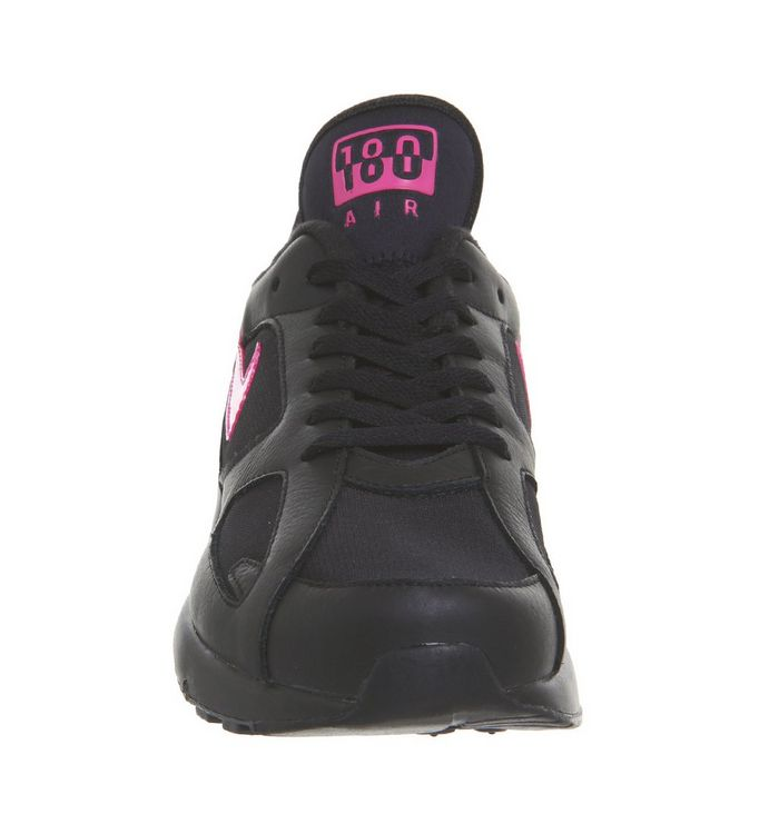 4207a4cd8d Nike Air Max 180 Trainers Black Pink Blast Wolf Grey - His trainers