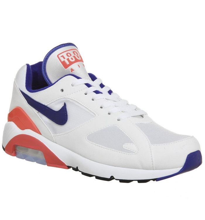 timeless design a09b3 8aa5a Air Max 180 Trainers  Nike, Air Max 180 Trainers, White Ultramarine Solar  Red M ...