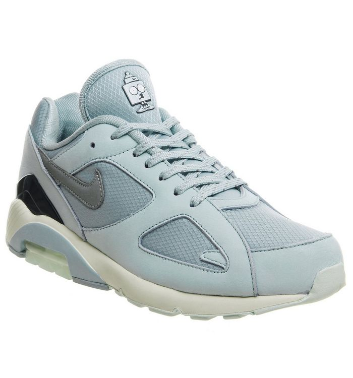 7091157009 Air Max 180 Trainers; Nike, Air Max 180 Trainers, Ocean Bliss Metallic  Silver Igloo Ice ...