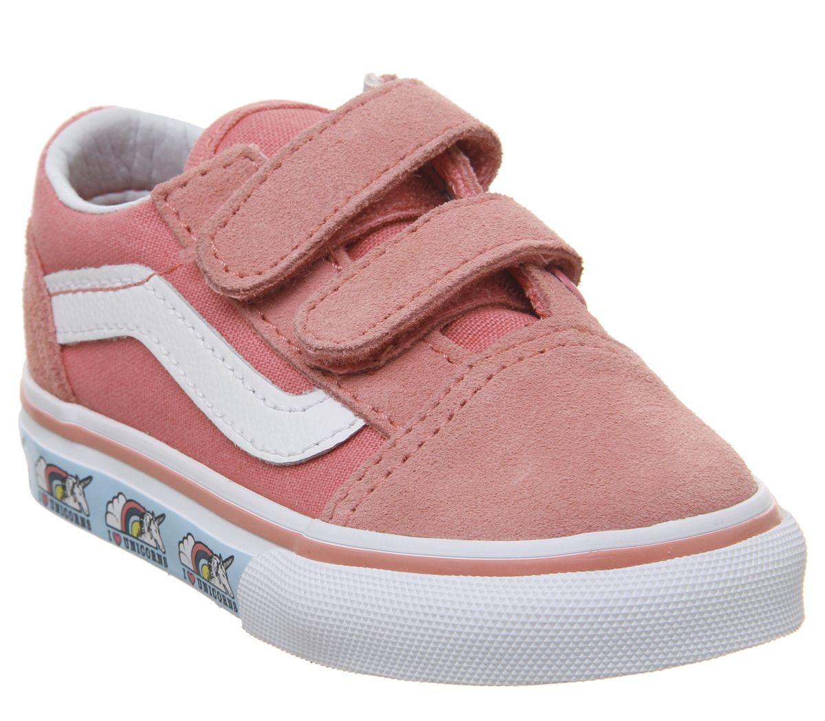 a7c59c55b1 Vans Old Skool (t) Trainers Strawberry Pink True White Unicorn - Unisex