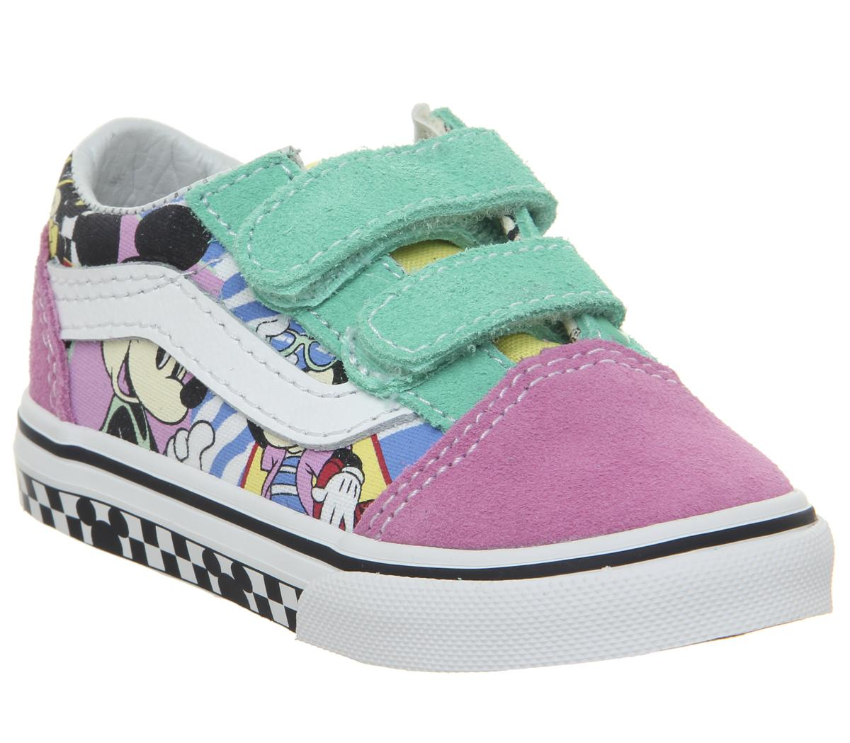5cdce0a4d2 Vans Old Skool Toddlers Trainers 80s Mickey True White Disney - Unisex