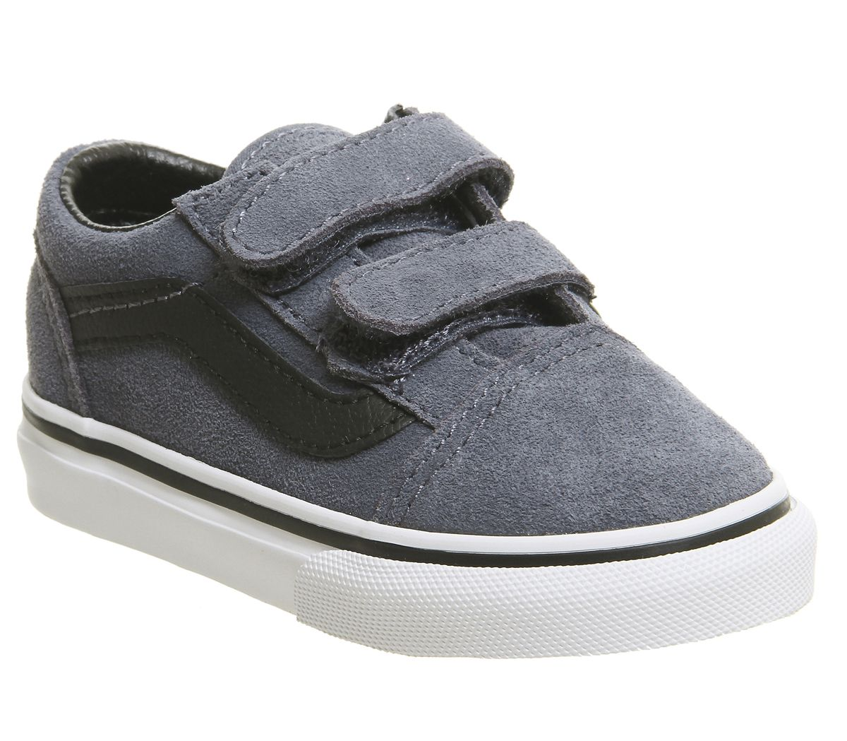 967c9cb072 Vans Old Skool Toddler Trainers Grisaille Blue Black White - Unisex