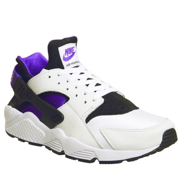 timeless design 1b06a 03ae5 Air Huarache Trainers  Nike, Air Huarache Trainers, Black Purple Punch Black  White Qs ...