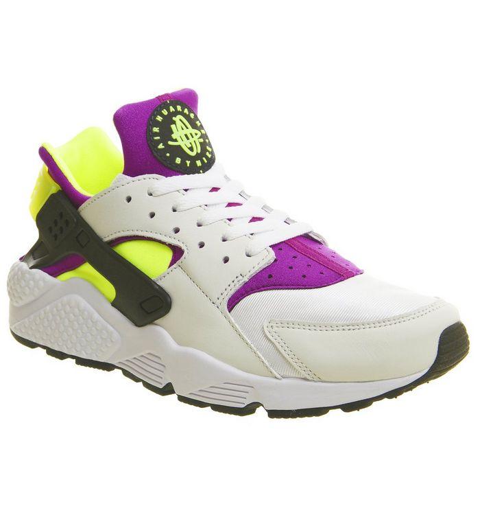 17405b52f3 Air Huarache; Nike, Air Huarache, White Black Neon Yellow Qs ...