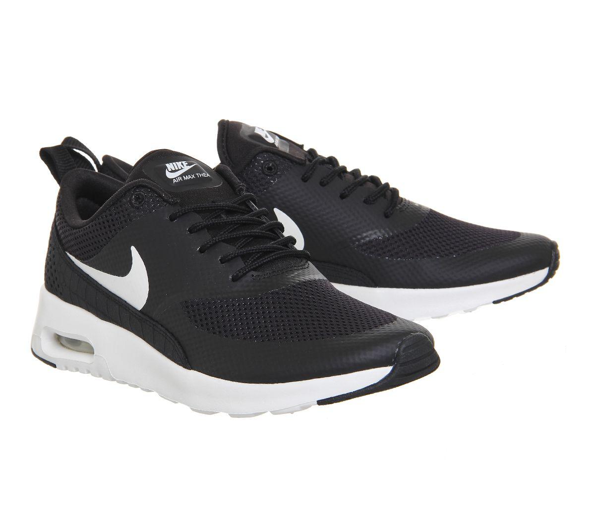 buy popular 28816 0f2a0 Nike Air Max Thea Black White - junior