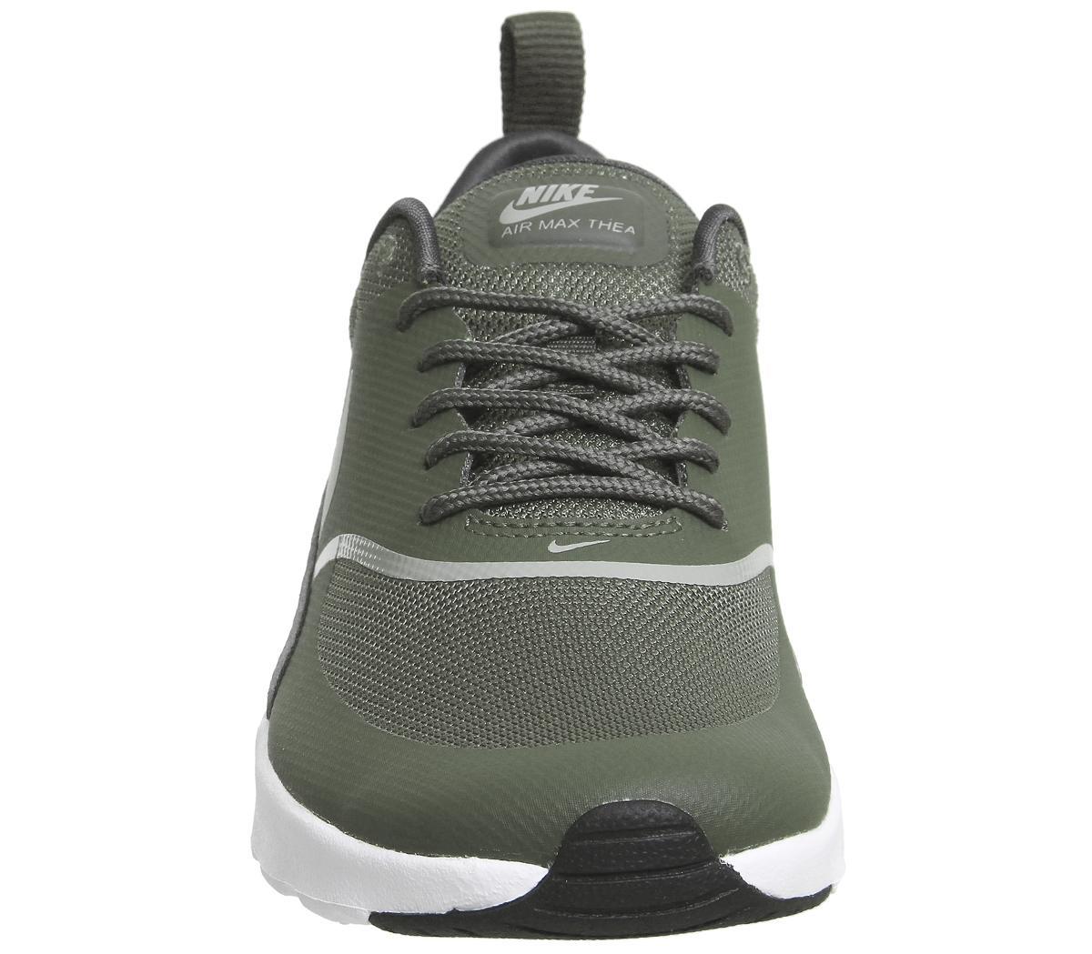 Nike Air Max Thea Trainers Cargo Khaki White Sneaker damen