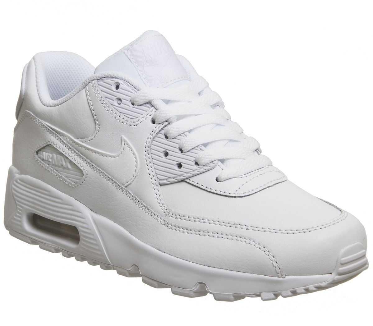 cdc94cb985 Nike Air Max 90 Trainers White Mono Leather - Hers trainers