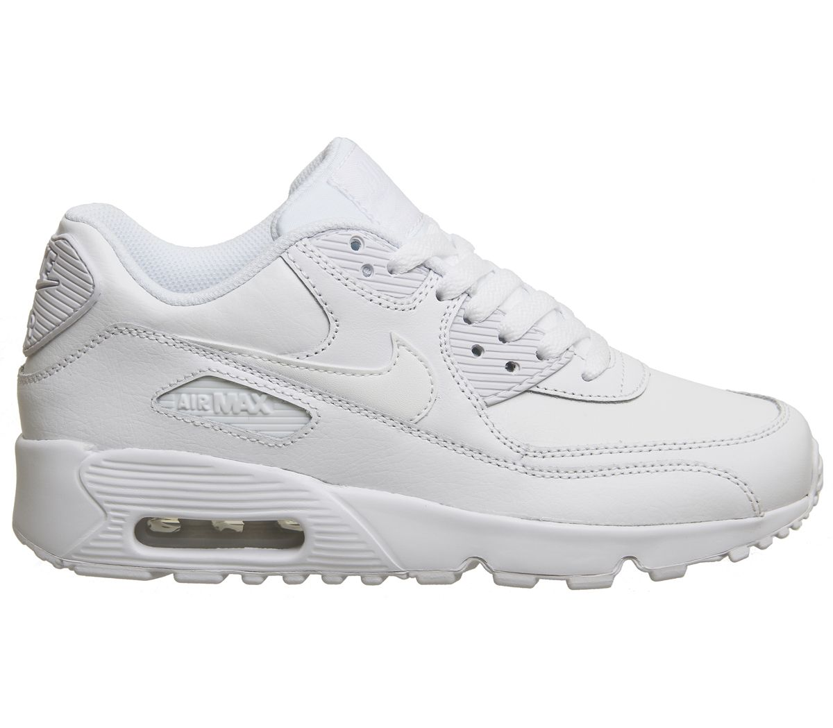 538a3014fdb79 Nike Air Max 90 Trainers White Mono Leather - Hers trainers