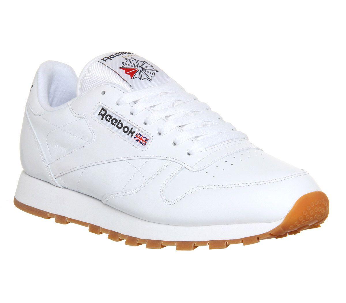 b48fb9ff84437 Reebok Cl Leather White Gum - Unisex Sports