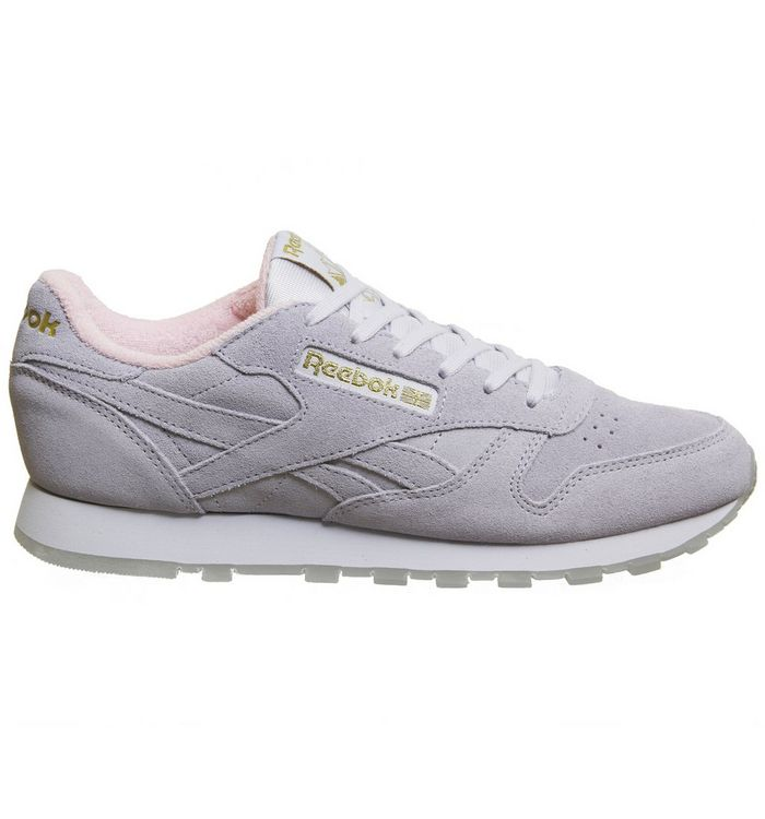 1d9723ebec6 Reebok Cl Leather Trainers Lucid Lilac Pink - Hers trainers