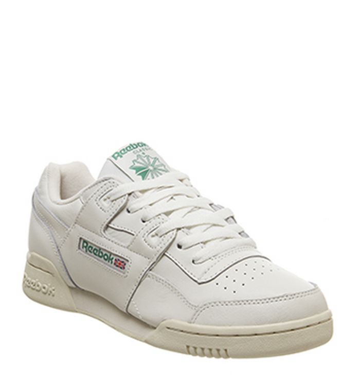 329381320b4 Reebok Workout Plus Trainers Classic White Cool Navy Red. £74.99. Quickbuy.  28-03-2019