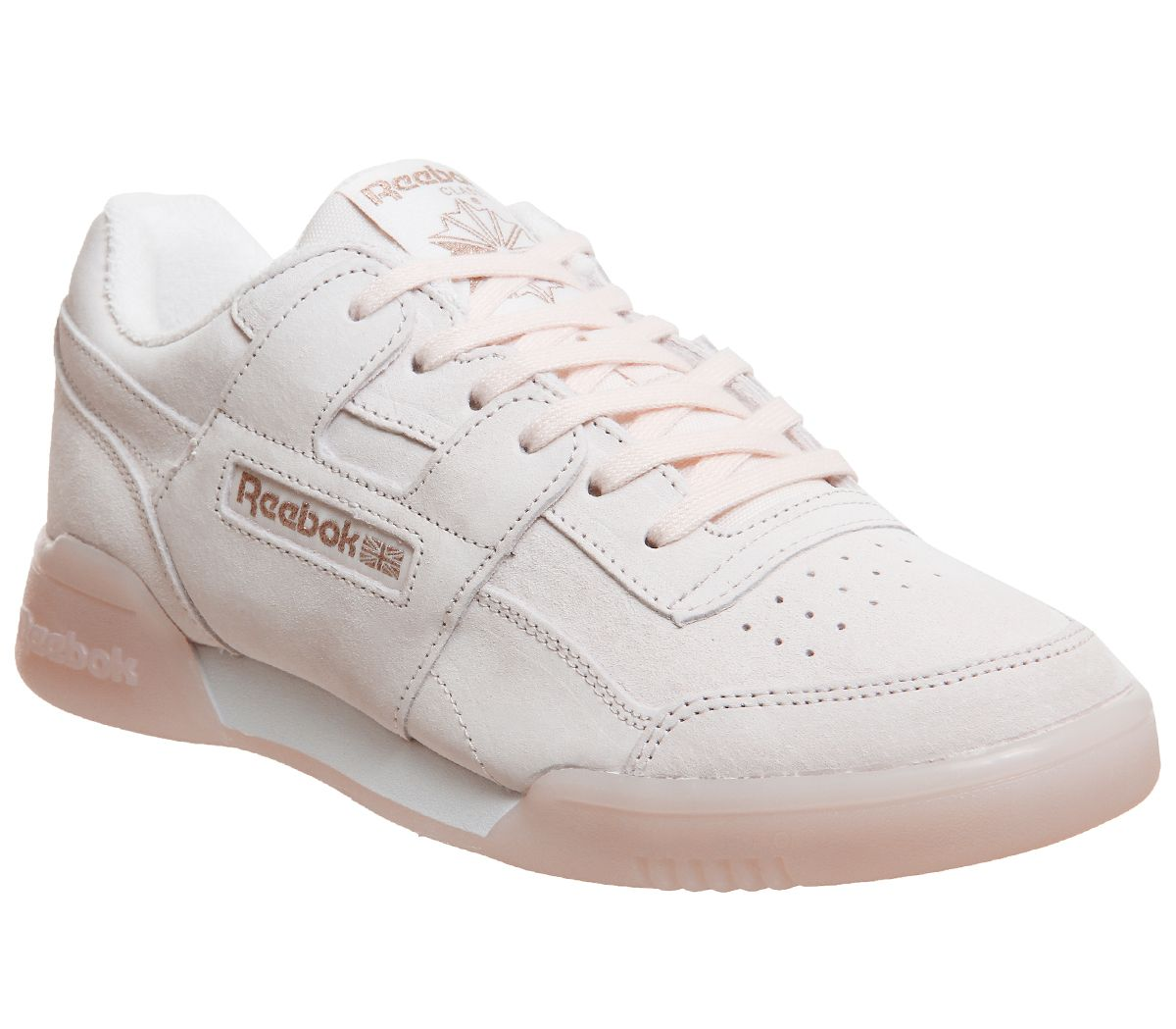 d317e629dd85 Reebok Workout Plus Trainers Pale Pink Rose Gold Exclusive - Hers ...