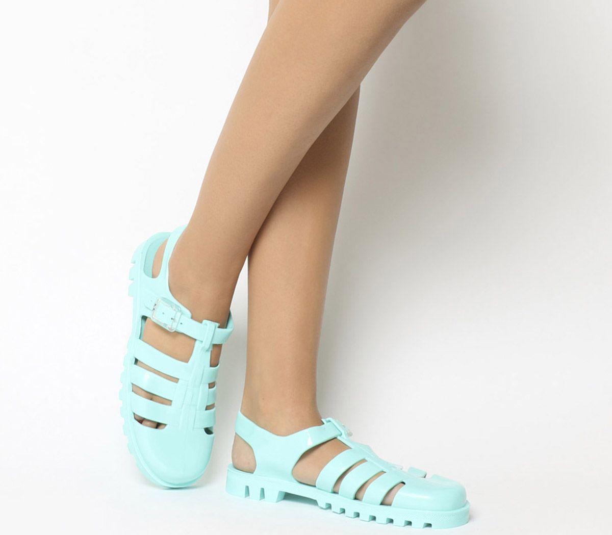 2253e1e114ca JuJu Maxi Low Jelly Shoes Mint - Sandals