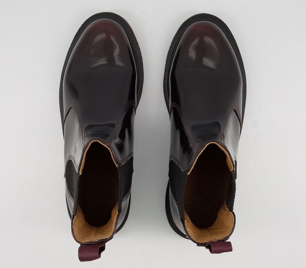 a25d64b979f5c Dr. Martens Kensington Flora Boots Burgundy Leather - Ankle Boots