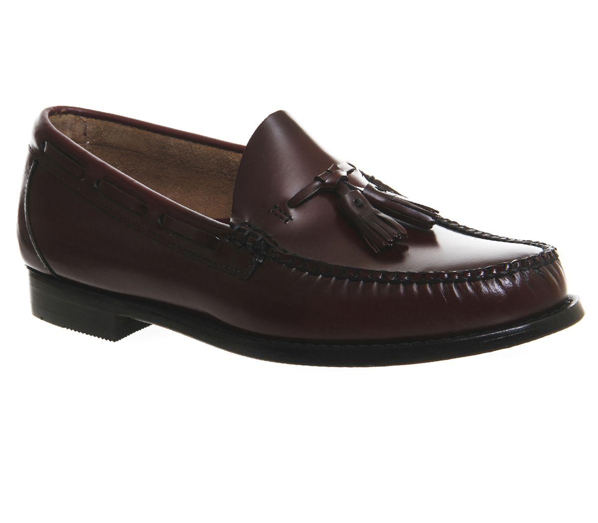 8b443f60468 G.H Bass   Co Larkin Tassel Loafers Wine Leather - Smart