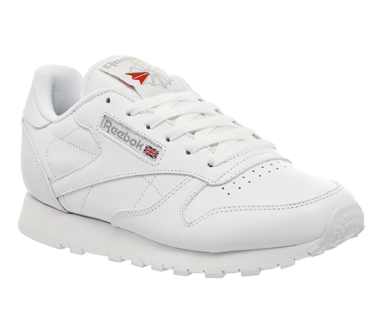 2cc762f3fdb09 Reebok Classic Leather Trainers White Leather - Office Girl