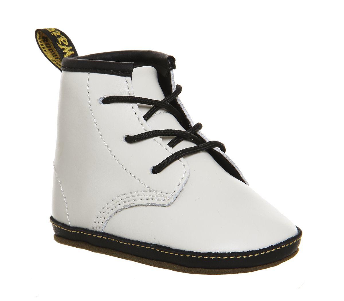 d4b58cf8f Dr. Martens Crib Bootie Auburn White Leather - Unisex