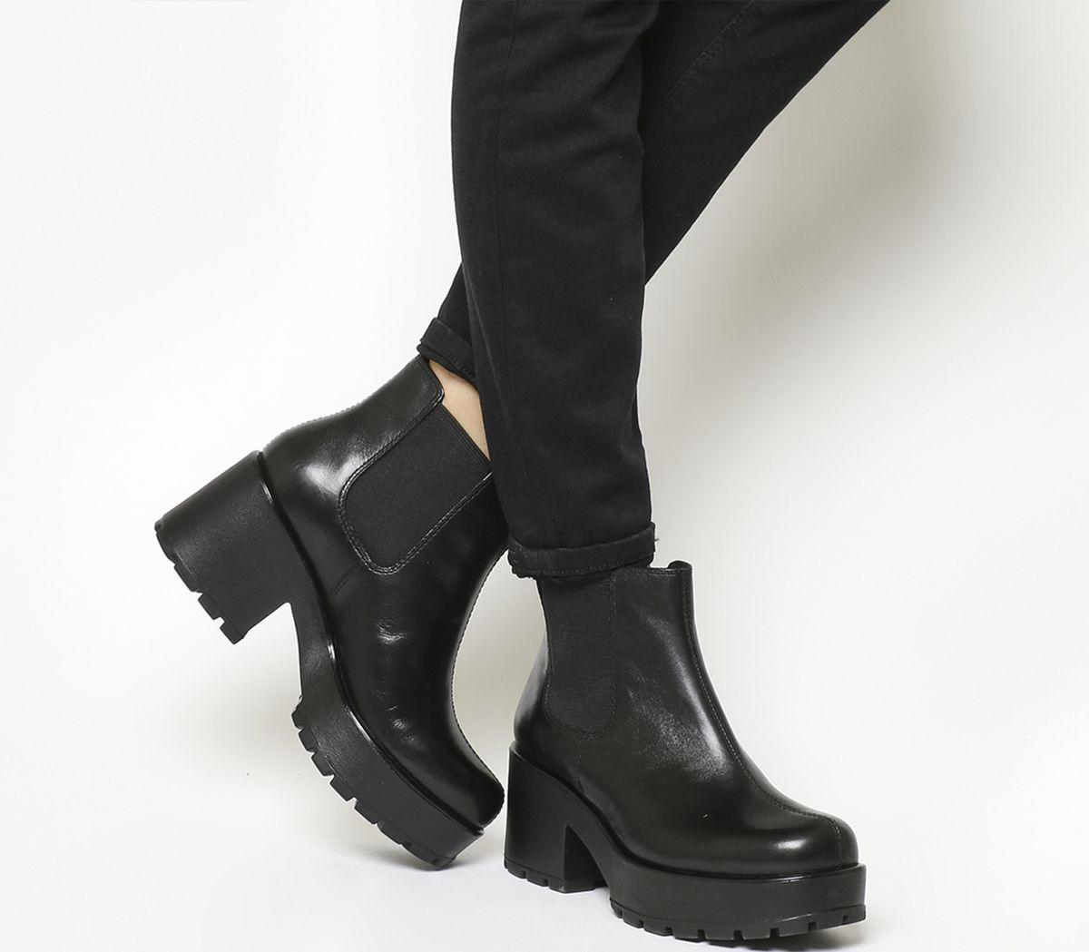 d5a91a09153 Vagabond Dioon Elastic Chelsea Boots Exclusive Black Leather - Ankle ...