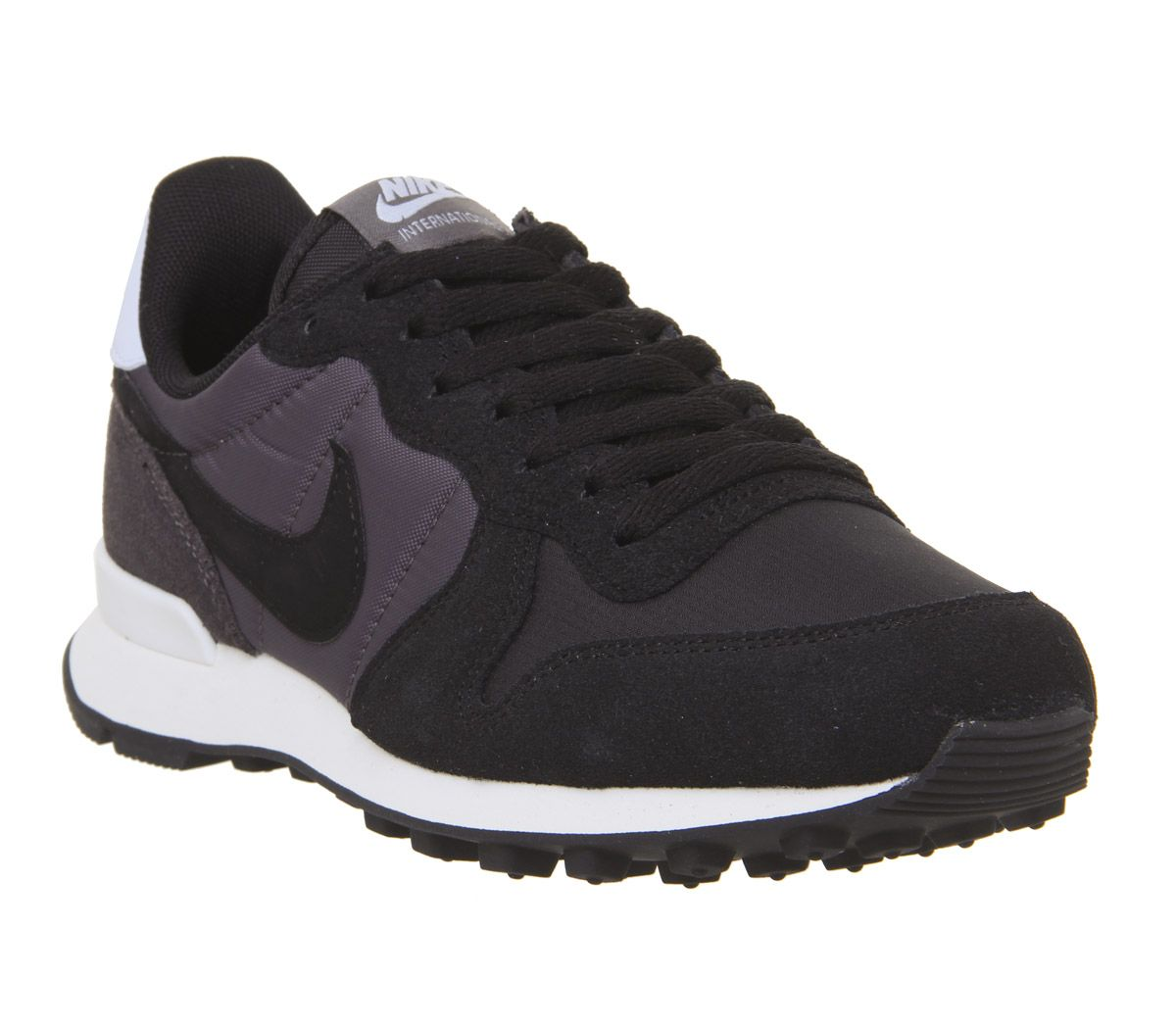 promo code a9039 e6ba5 Nike Nike Internationalist Trainers Black Thunder Grey Half Blue ...