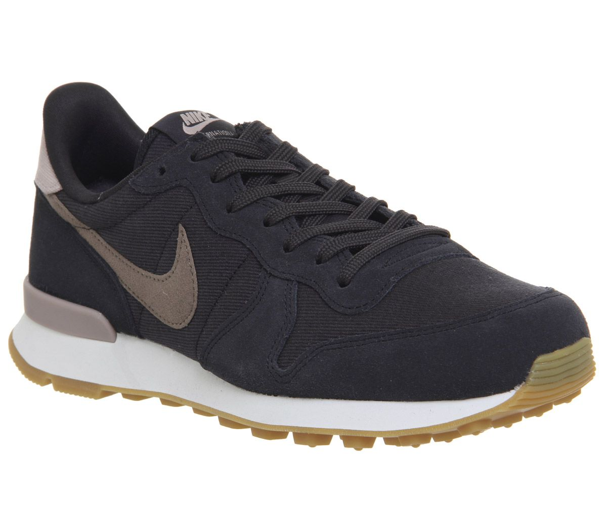 timeless design 674e3 9729b Nike Nike Internationalist Trainers Oil Grey Miuk Brown F - Hers ...