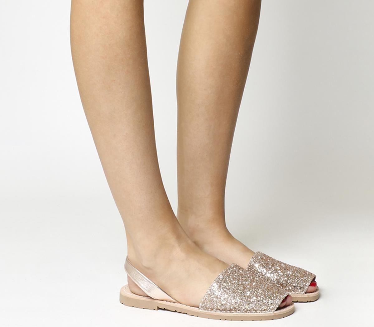 6b5894d5d1d2 Solillas Solillas Sandals Peach Glitter - Sandals