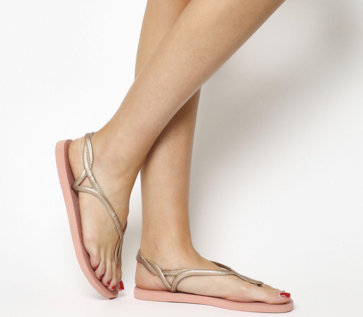 8cc36c14f Havaianas Luna Flip Flops Light Rose - Sandals
