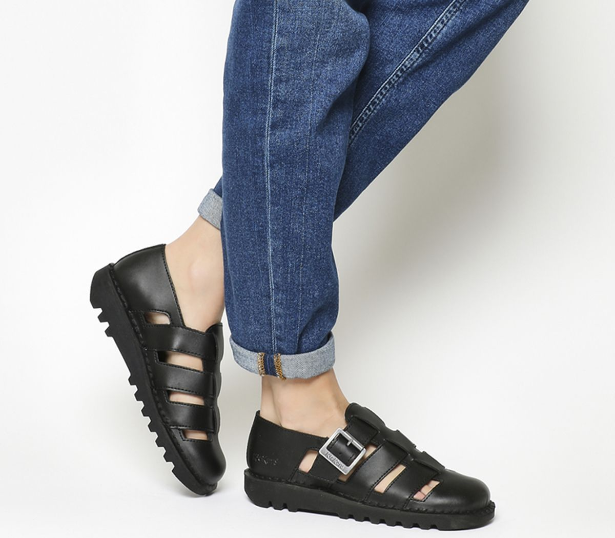 27da129daec Kickers Kick Low Weave Black Leather - Flats