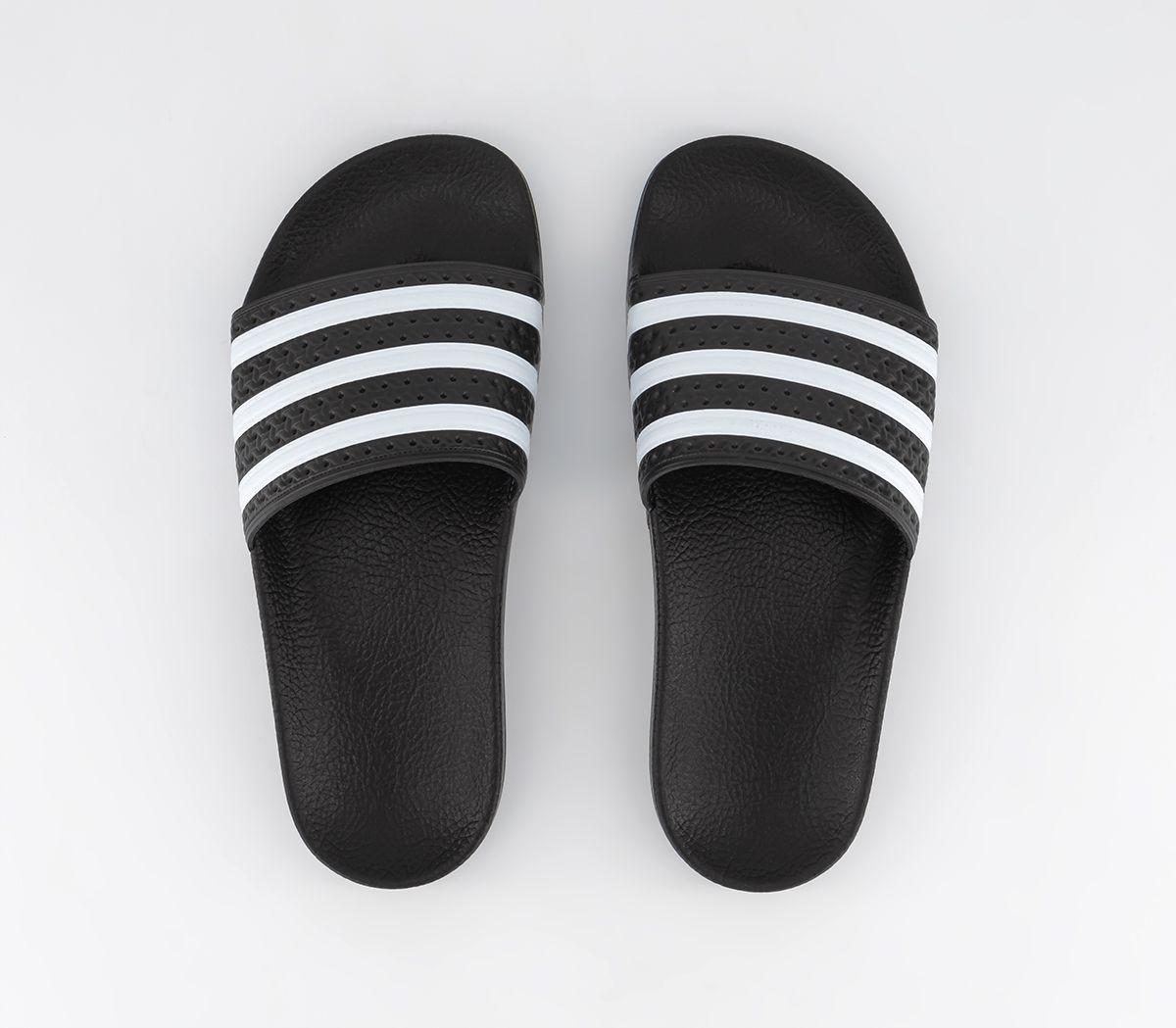 5a3e77d8e adidas Adilette Sliders Black White - Office Girl