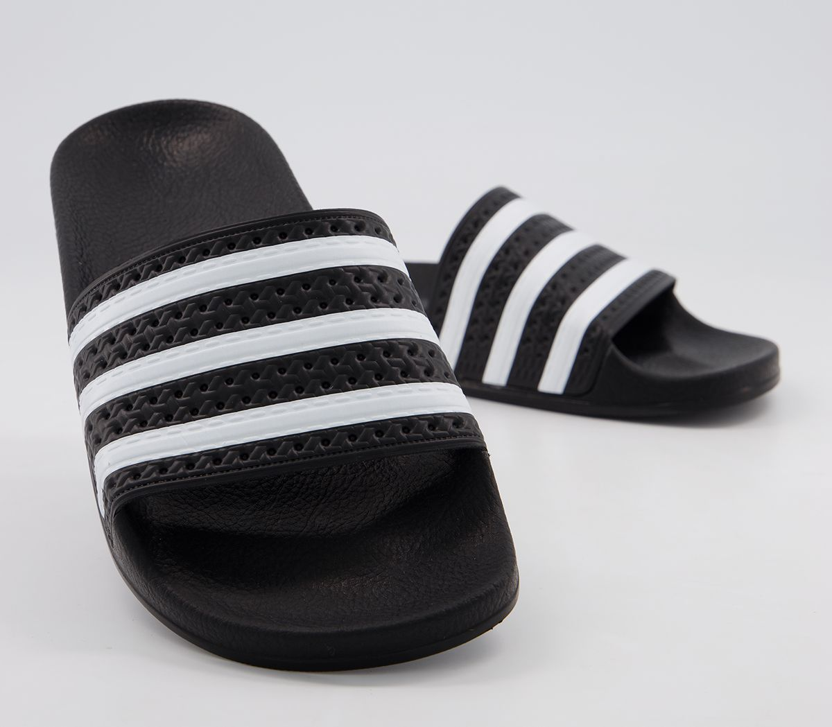 aac9c13ac adidas Adilette Sliders Black White - Office Girl