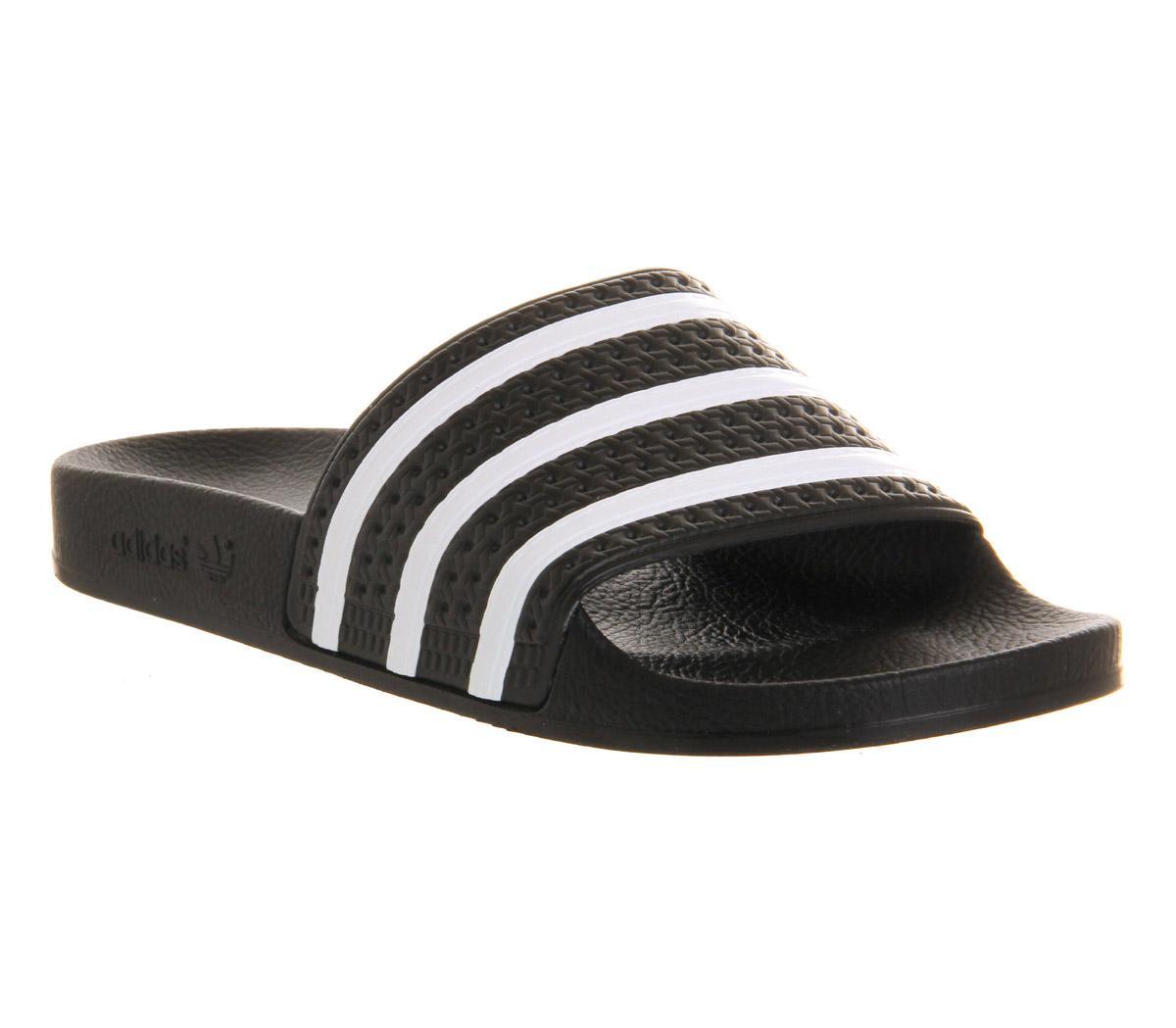 1c22051b3 adidas Adilette Sliders Black White - Office Girl